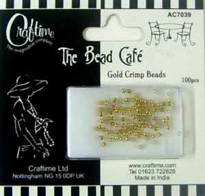 The Bead Cafe Gold Crimp Beads