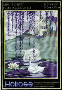 Cross Stitch Kit Holrose Crafts Swans