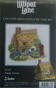 Lilliput Lane Cross Stitch Picture Kit Swan Green