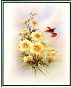 Glossop Crafts Catalogue Decoupage Print \u0027Humming Bird A