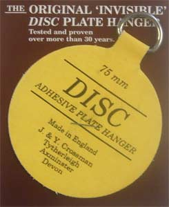 Plate Hanger Disc 75 mm / 3inch