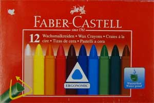 Faber-Castell Wax Crayons.