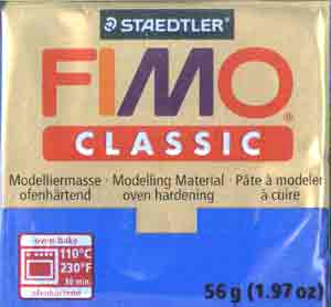 Fimo Classic Polymer Clay - Blue 37