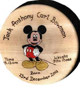 Mickey Mouse Christening Stool