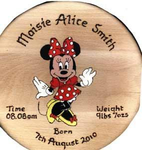 Minnie Mouse Dancing Christening Stool