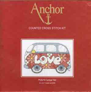 Anchor Counted Cross Stitch Kit Camper Van