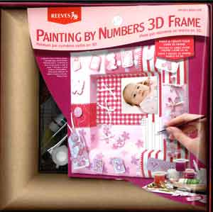 Painting By Numbers 3D Frame Baby Girl