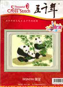 3 Panda cross stitch