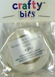 Waxed Linen Thread White