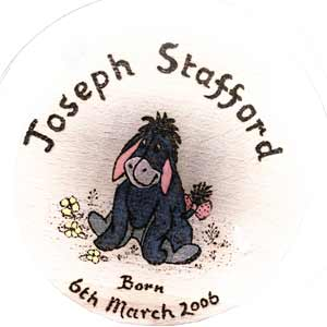 Lonely Eeyore Christening Stool